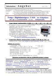 Pt1000 - SCHRIEVER & SCHULZ & Co. GmbH