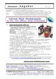 Sensoren für Universal - Hand - Druckmessgeräte GMH