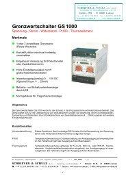 Grenzwertschalter - SCHRIEVER & SCHULZ & Co. GmbH