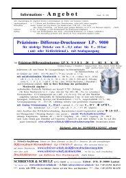 Präzisions- Differenz-Drucksensor LP x 9000 - Schriever-schulz.de