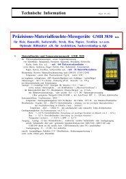 Präzisions-Materialfeuchte-Messgeräte GMH 3830 u.a.