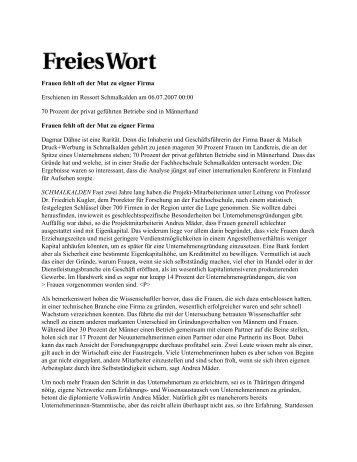 Lesen Sie mehr dazu. - Bauer & Malsch Druck + Werbung Gmbh