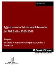 Politiche per l'istruzione e la formazione - Regione Siciliana