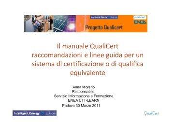 Il manuale QualiCert raccomandazioni e linee guida per ... - Assistal