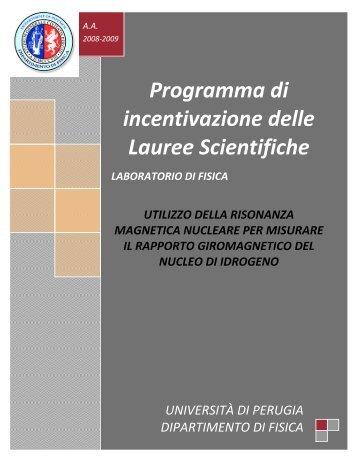 Programma di incentivazione delle Lauree Scientifiche - Fisica