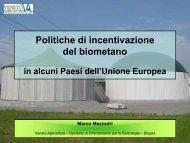 Politiche di incentivazione del biometano - Veneto Agricoltura