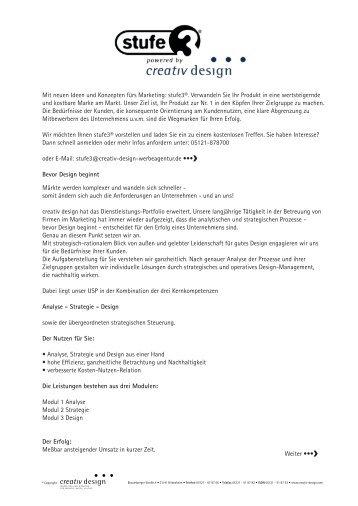 Infos stufe 3 (553 KB PDF) - creativ design