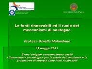 CIP 6 e CV: sistemi di incentivazione a confronto - Università degli ...