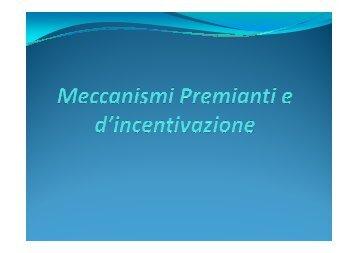 Meccanismi Preminati e d'incentivazione - IFOSTUD - Istituto di ...