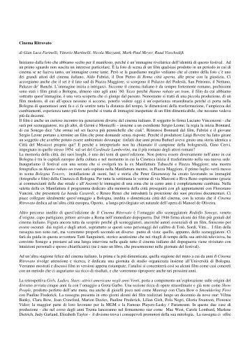 Cinema Ritrovato di Gian Luca Farinelli, Vittorio Martinelli, Nicola ...