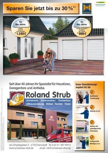 Sparen Sie jetzt bis zu 30 %** en - Schreinerei Strub, Dannstadt