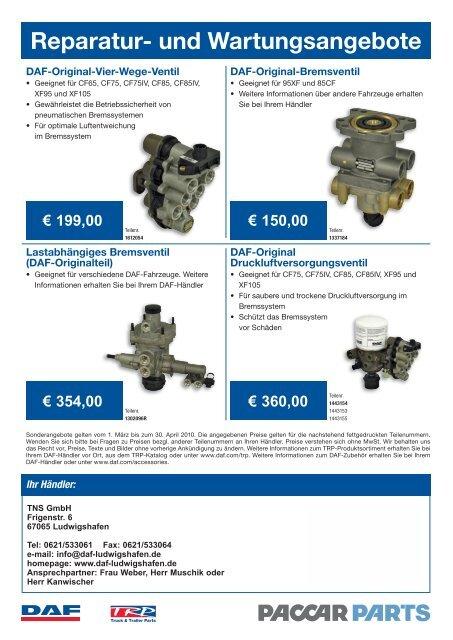 Reparatur- und Wartungsangebote - DAF Trucks Ludwigshafen ...