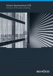 Schüco Sonnenschutz CTB Schüco CTB solar shading