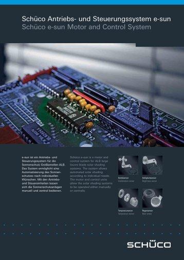 Schüco Antriebs- und Steuerungssystem e-sun Schüco e-sun Motor ...
