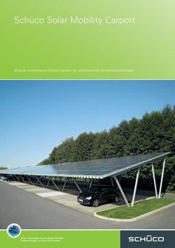 Schüco Solar Mobility Carport
