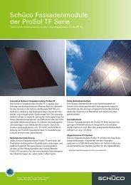 Schüco Fassadenmodule der ProSol TF Serie