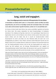 Jung, sozial und engagiert. - Schüler Helfen Leben
