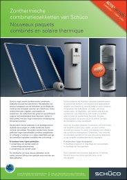 Zonthermische combinatiepakketten van Schüco Nouveaux paquets ...