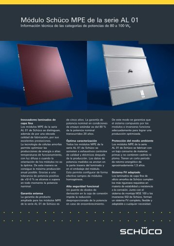 Brochures no. P3264 - Schüco
