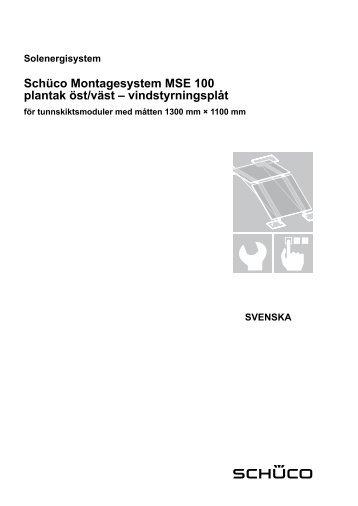 Manual MSE 100 - Schüco