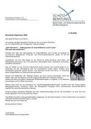 Newsletter September 2008 - Schütz-Beratung GmbH & Co. KG