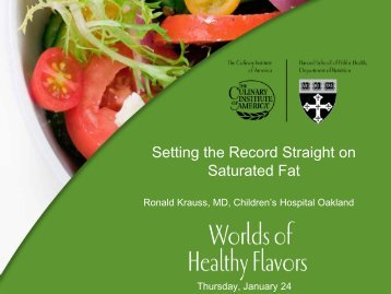 Setting the Record Straight on Saturated Fat