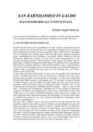 2) Dai Longobardi all'Unità d'Italia - Comune di San Bartolomeo in ...