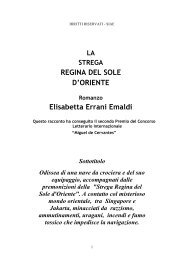 "REGINA DEL SOLE D""ORIENTE Elisabetta Errani ... - Estro-Verso"