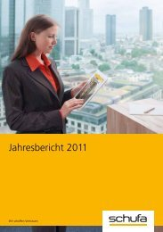 SCHUFA-Jahresbericht 2011 (PDF, 2.3 MB)