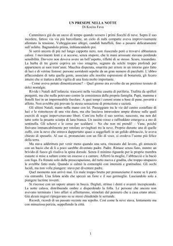 UN PRESEPE NELLA NOTTE - Leggendo Scrivendo