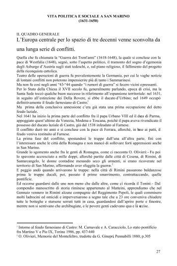 Vita politica e sociale a San Marino - Portale per l'educazione