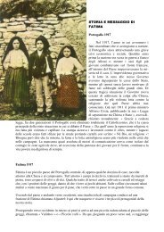 STORIA E MESSAGGIO DI FATIMA Portogallo 1917 ... - Regina Mundi