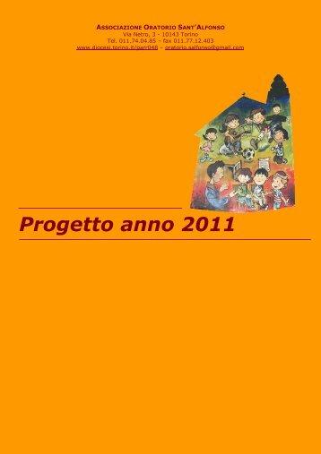 Progetto anno 2011 - Arcidiocesi di Torino