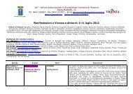 Manifestazioni a Vicenza e dintorni: 5-11 luglio 2012