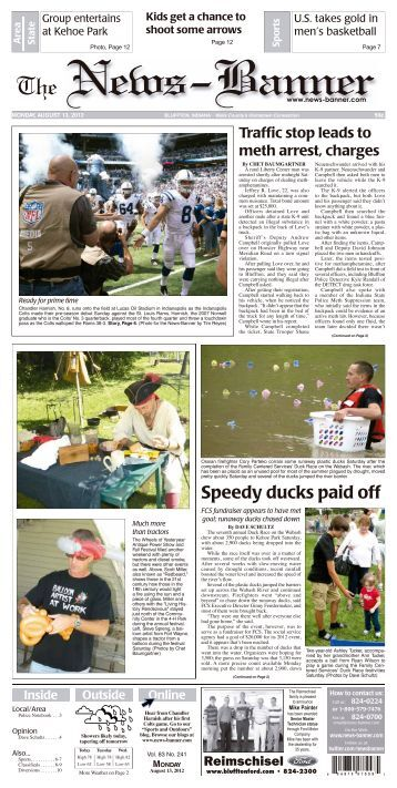 Speedy ducks paid off - Bluffton News Banner