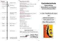 Fachoberschule - Alfred-Grosser-Schulzentrum Bad Bergzabern