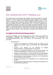 Die 7 Module des ECDL Syllabus 5