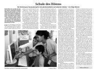 November 2008 politik und kultur Nov. - Schule des Hörens
