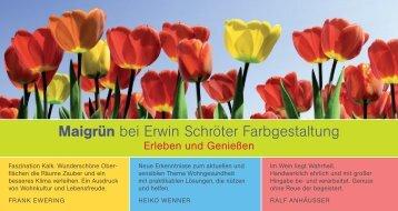 Einladungskarte - Erwin Schroeter Farbgestaltung Maler und ...