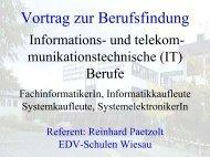 Die IT-Berufe - Schulen in Regensburg