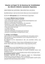 Bibliotheksordnung - Schulen in Regensburg
