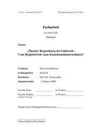 Facharbeit - Schulen in Regensburg - Stadt Regensburg