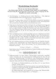 Zusammenfassung für die Q11: Stochastik - Schulen in Regensburg