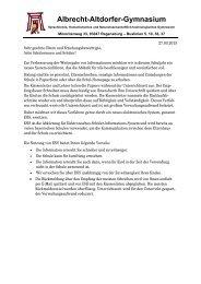 Elternbrief ESIS - Schulen in Regensburg