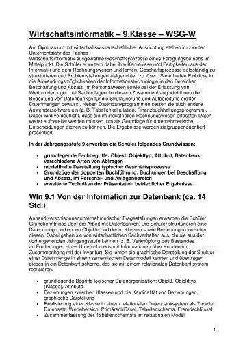 Informatik 9; Arbeitsblatt Aggregatfunktionen - Schulen in Regensburg