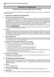 Merkblatt zur Seminararbeit - Schulen in Regensburg