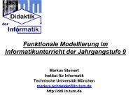 Funktionale Modellierung - Schulen in Regensburg