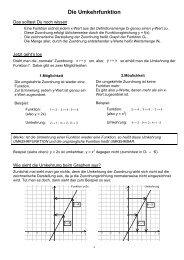 Die Umkehrfunktion.pdf - Schulen in Regensburg