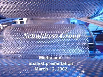 Download presentation for analysts 2002 in PDF - Schulthess Group