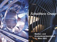 Download Analystenpräsentation März 2003 als ... - Schulthess Group